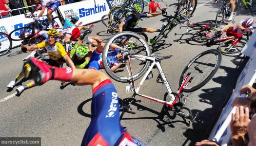 Tour Down Under Stage 4 Crash Photos