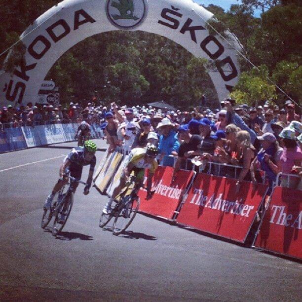 Valverde and Gerrans Stage 5 Tour Down Under 2012