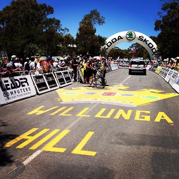 Willunga Hill Tour Down Under 2012